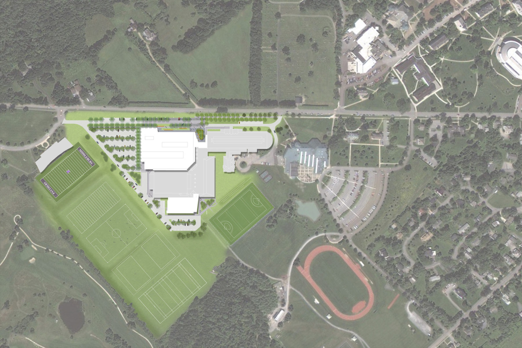 Plan for middlebury site