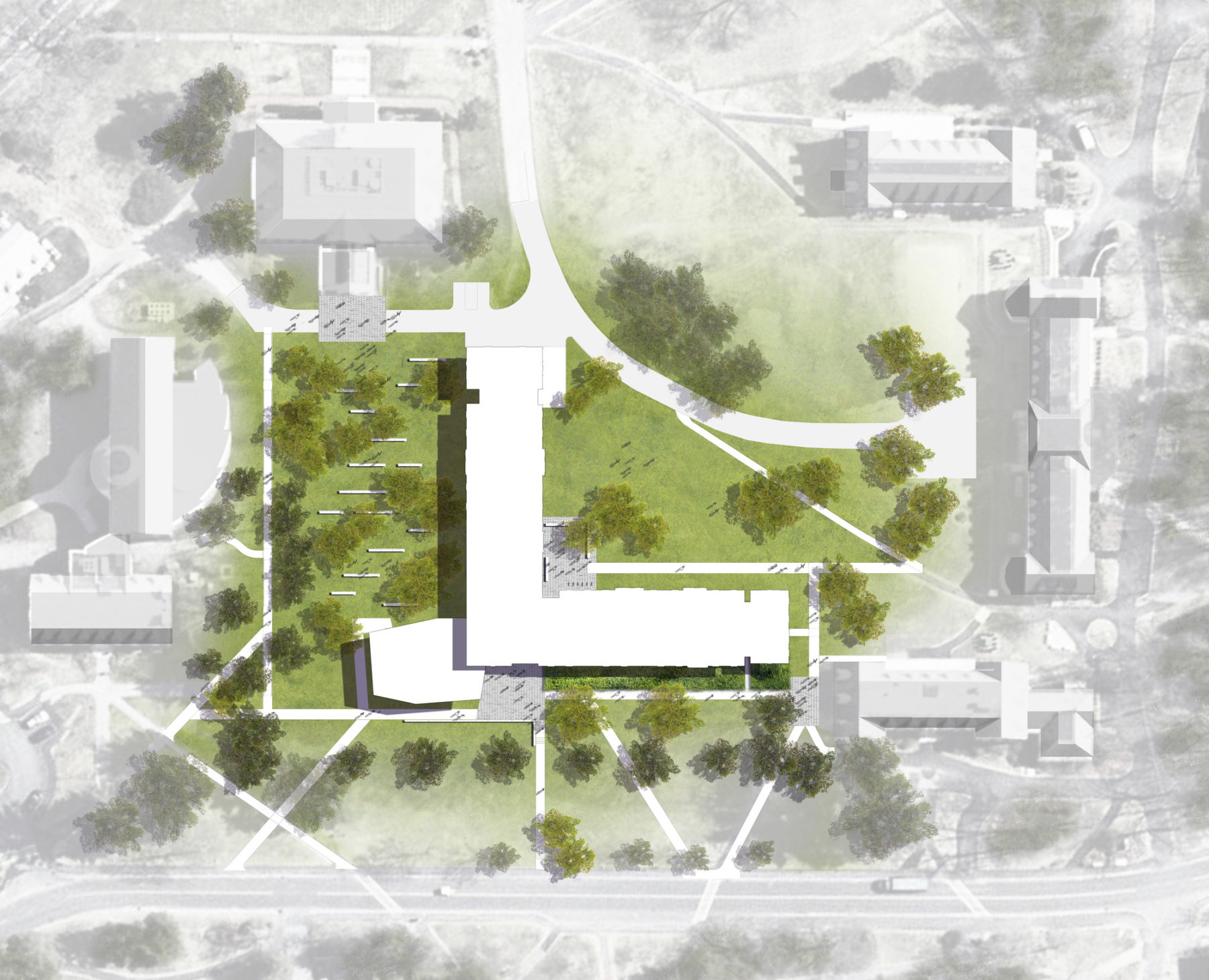 Overhead diagram of the Babson College Park Manor West/Schlesinger Innovation Center