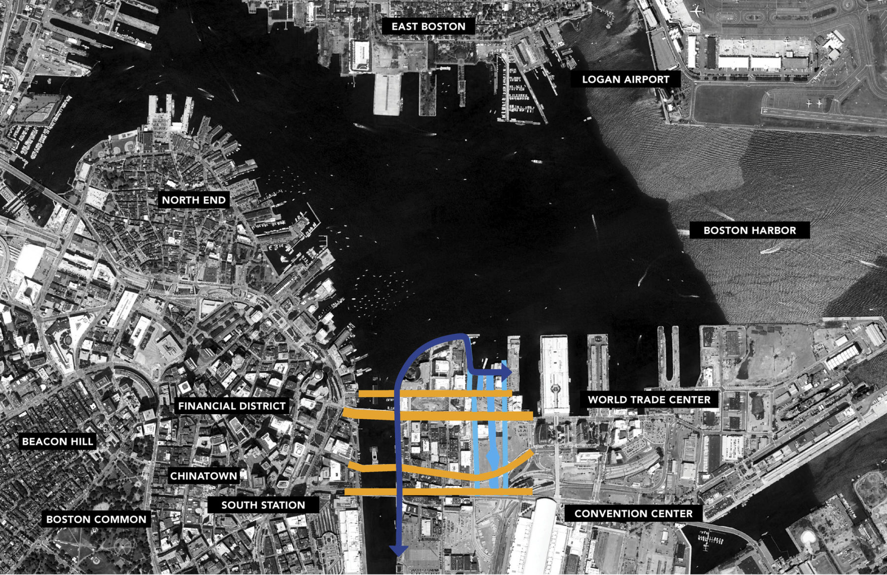 Diagram of seaport neighborhood