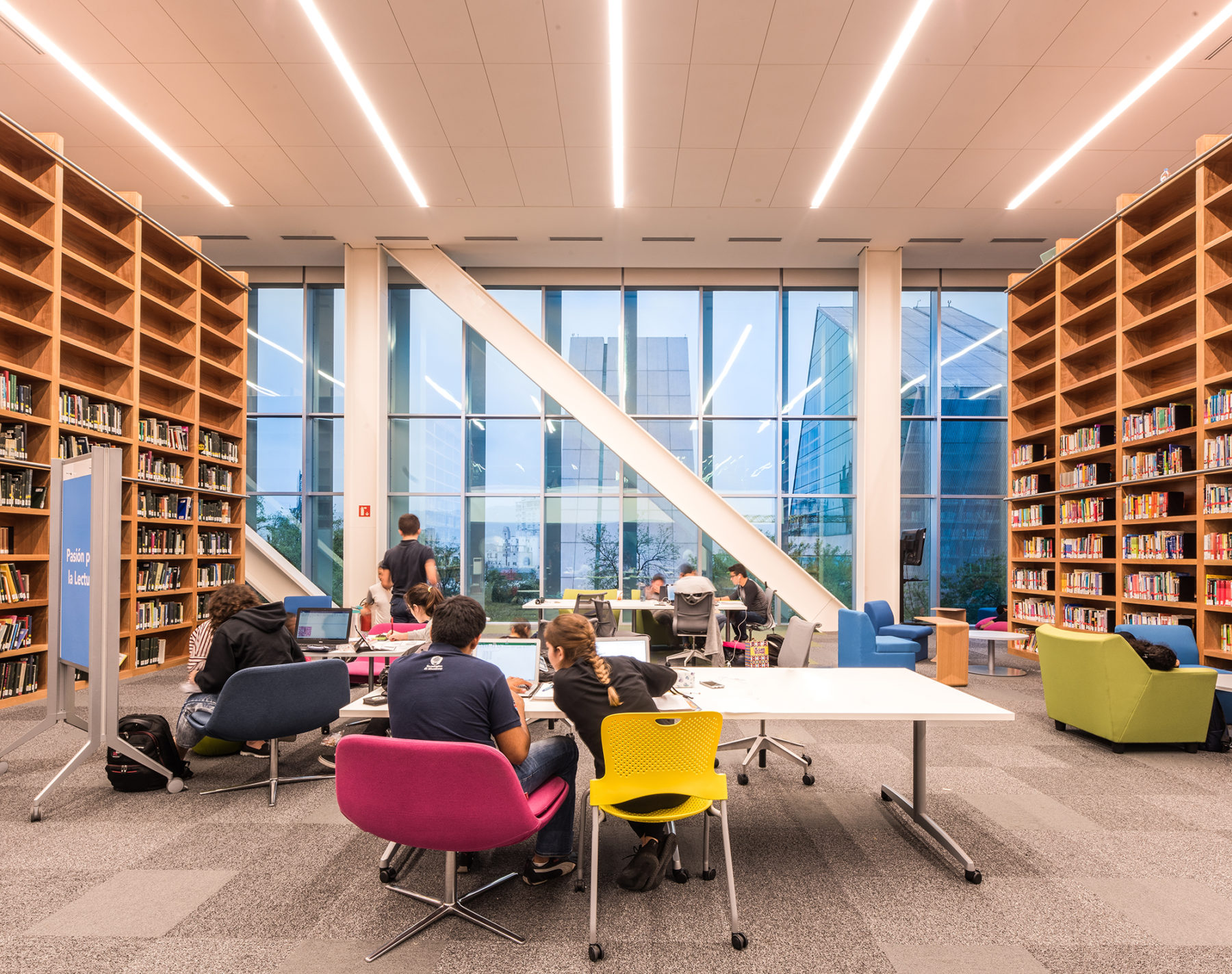 work spaces within book stacks