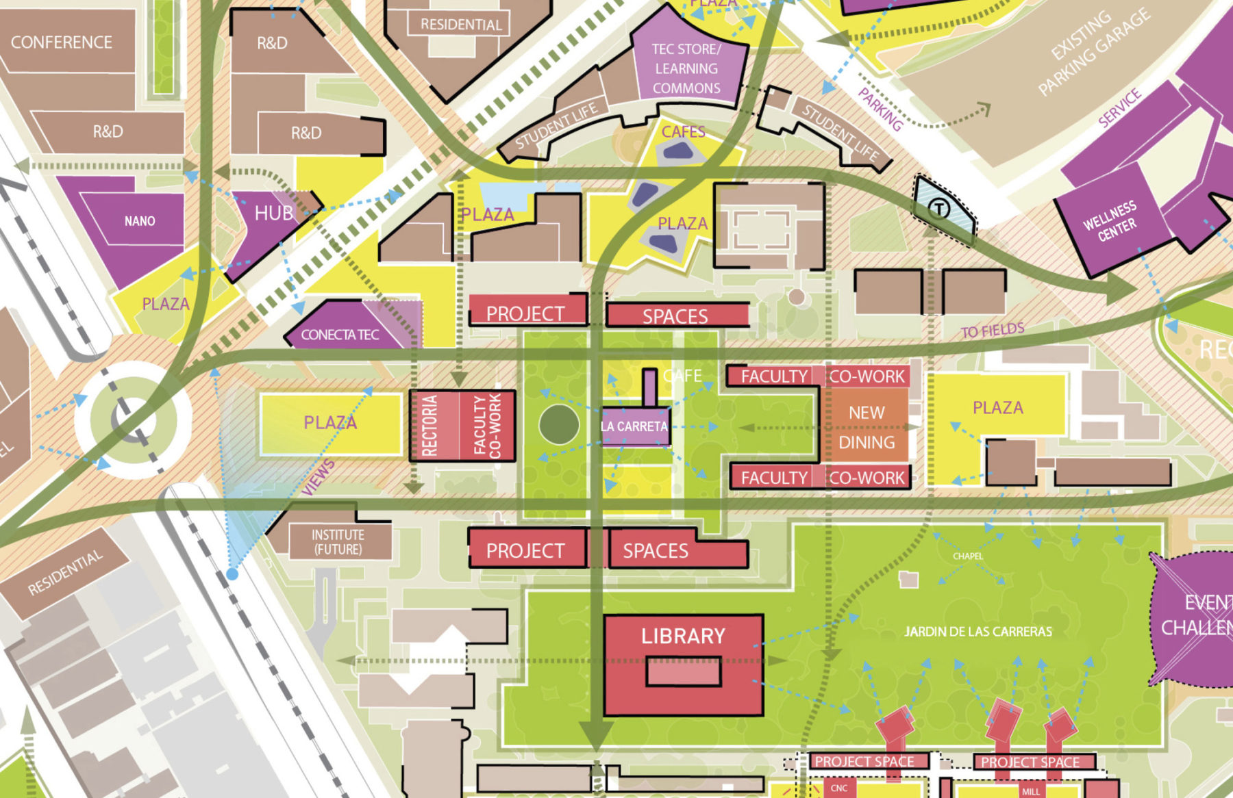 map of buildings