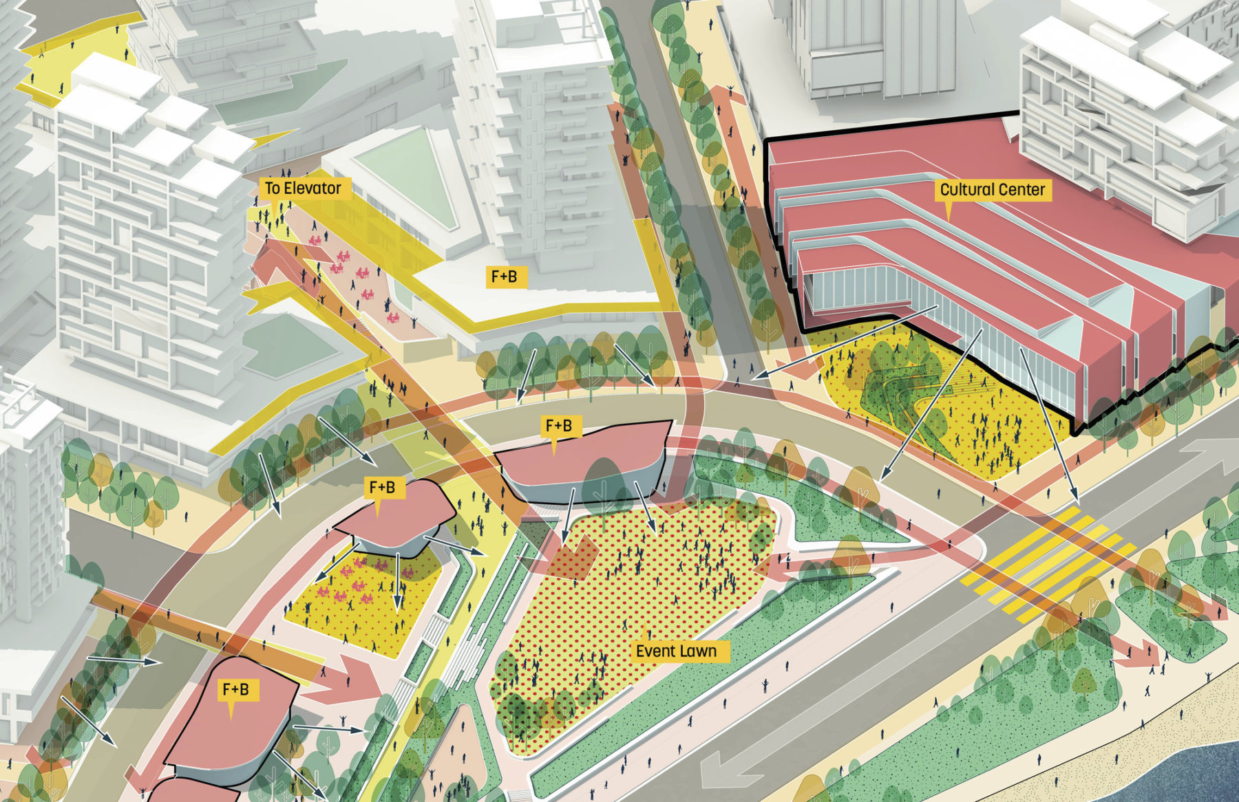 diagram of event lawn and cultural center