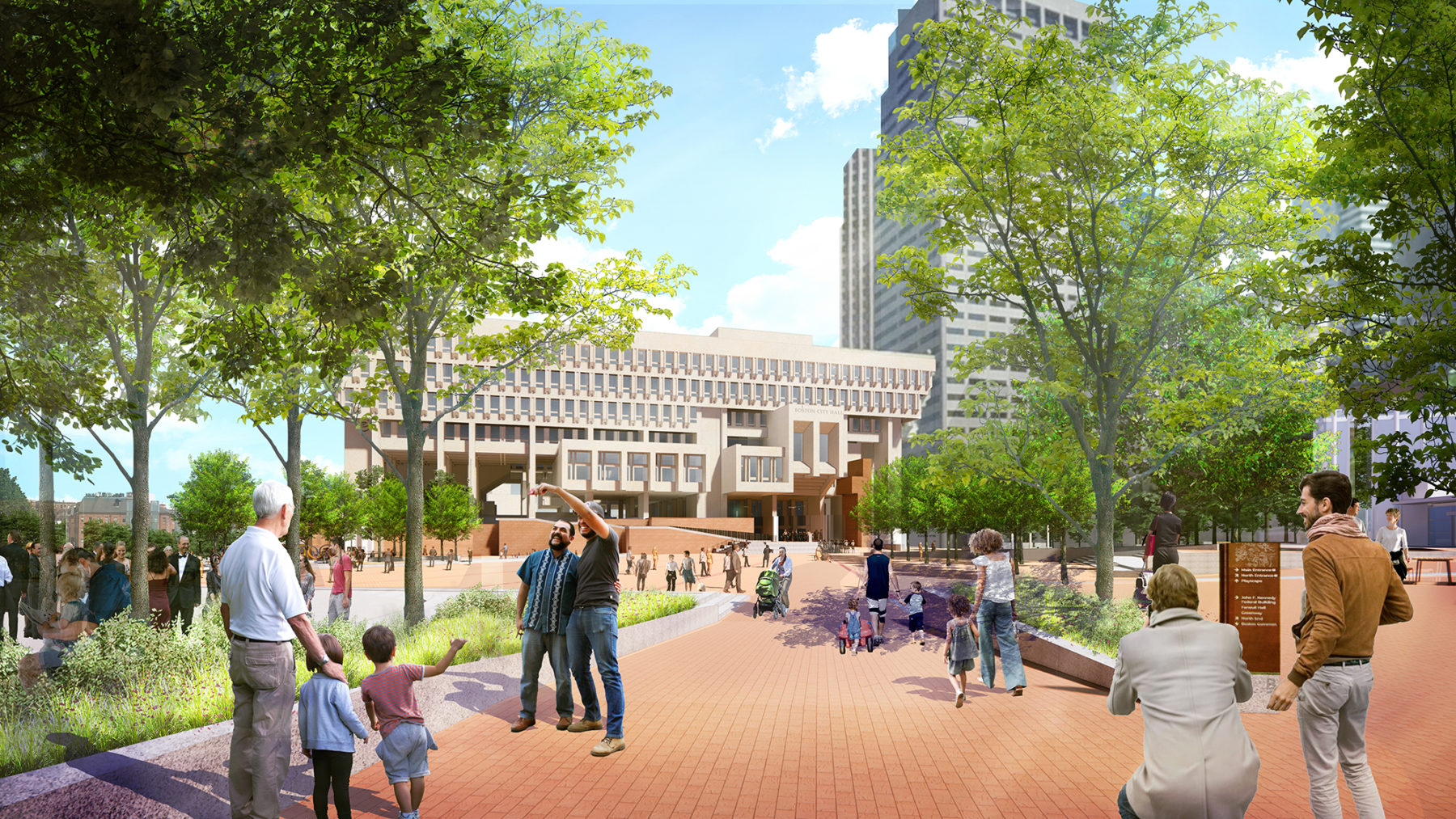 rendering of plaza entry