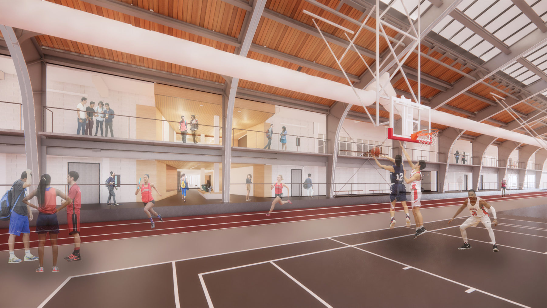 interior rendering of field house